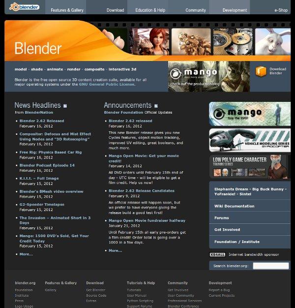 Blender Homepage