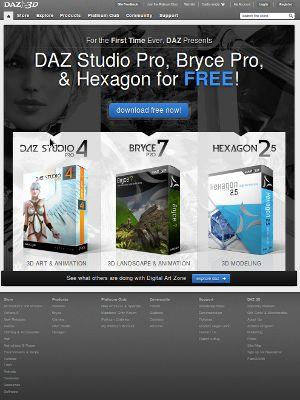 Daz 3D's web site