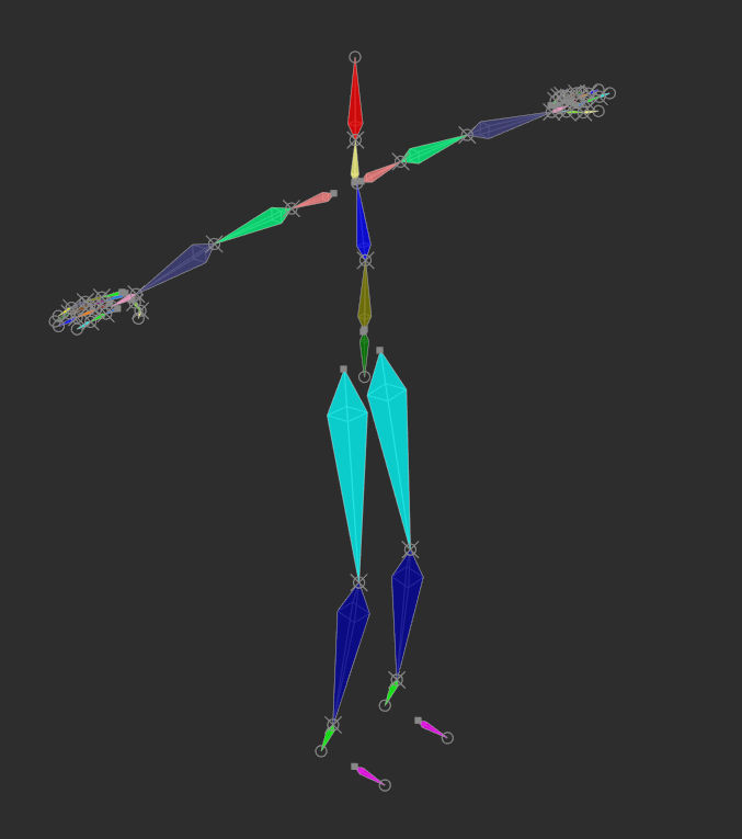 You only need to see and position these bones to install the rig into your character model.